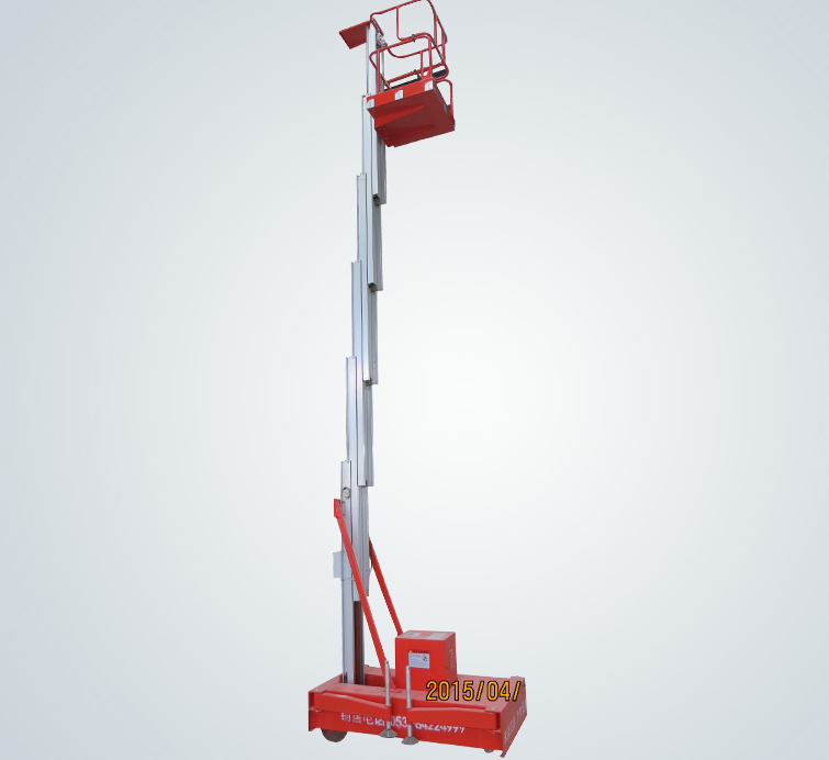 Single mast  aluminum work platform