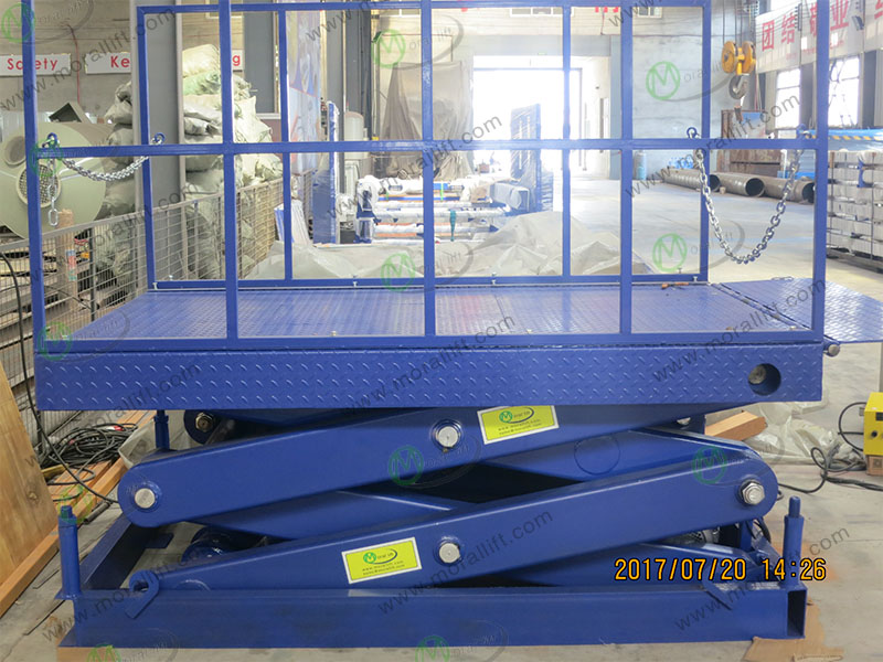 Scissor dock lift