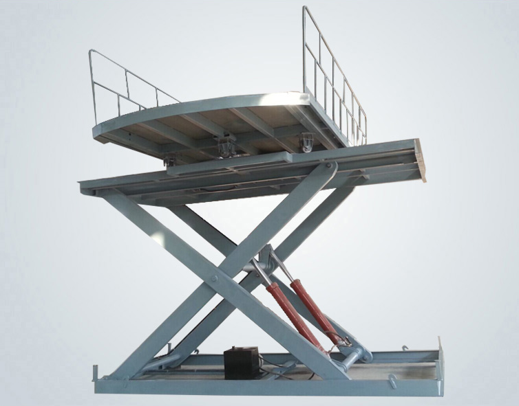 Lifting with revolving platform