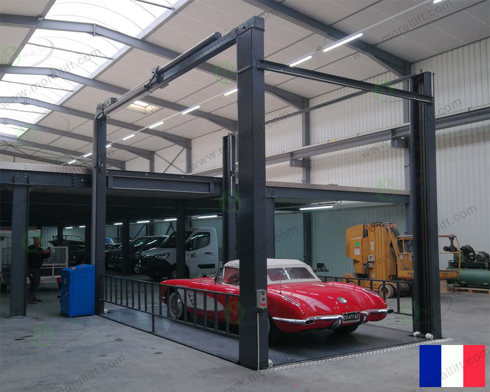 4 post car lift to France