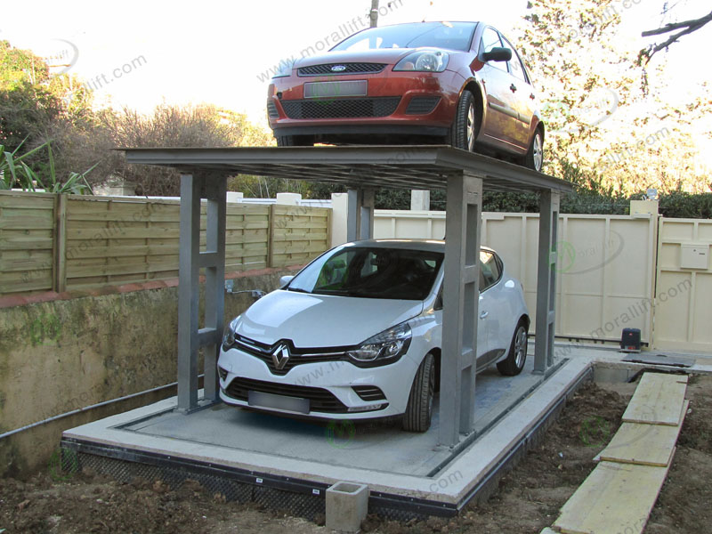 How to install the double deck car lift