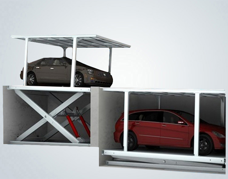 Double deck car lift